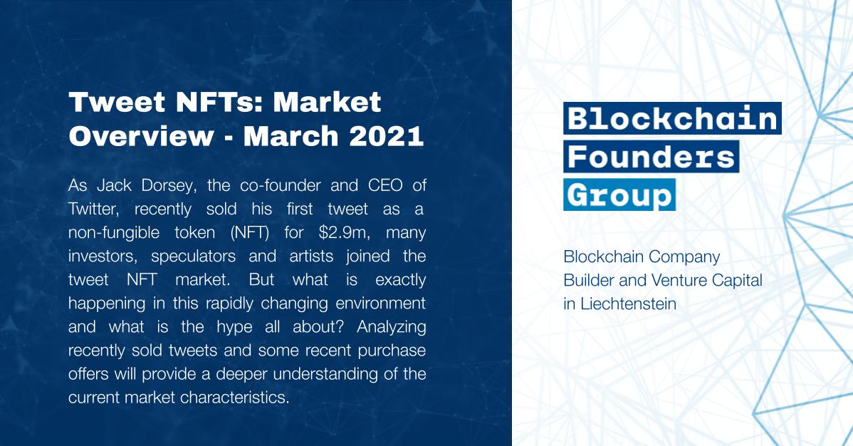 Tweet NFTs Market Overview March 2021